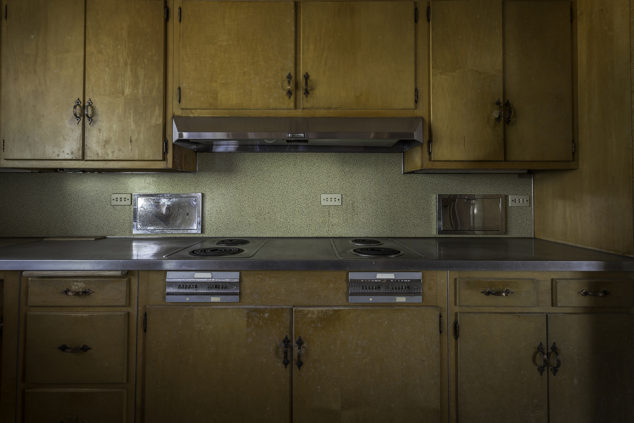Kitchen in an abandoned home